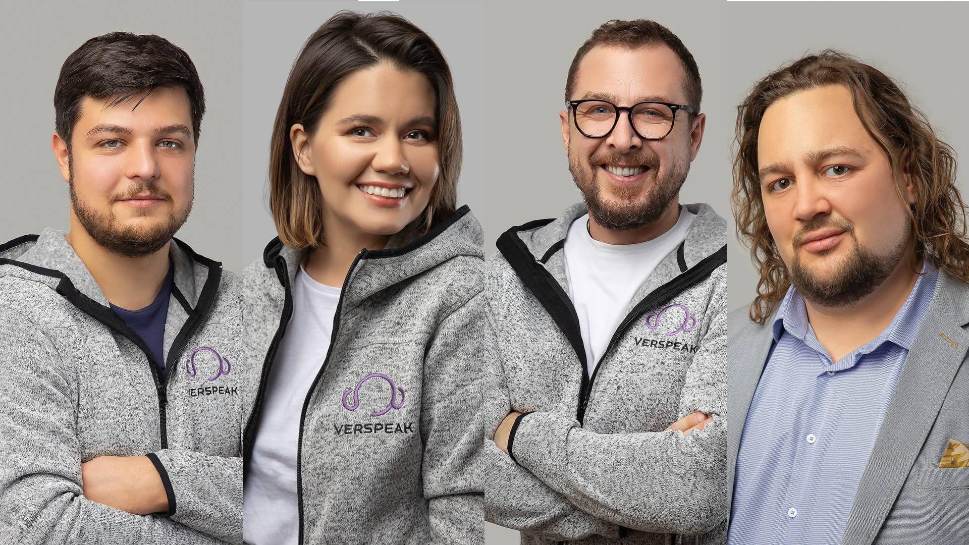 Photos of the management team of Verspeak
